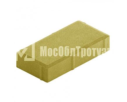 Плитка тротуара «Вибропрессованный кирпич» Желтый