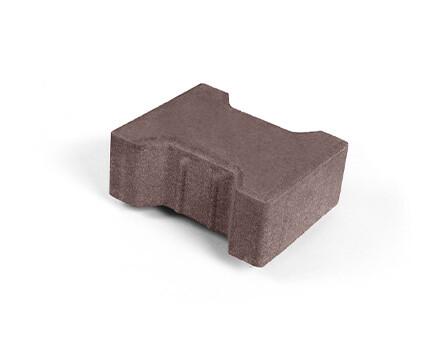 Плитка «Катушка» для тротуара коричневый