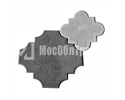 Плитка «Краковский клевер» Гжелка Черный