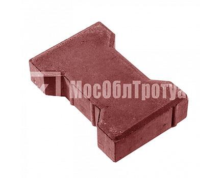 Тротуарная плитка «Вибропрессованная катушка» Красный