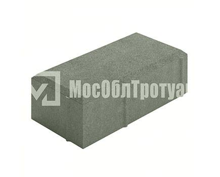 Тротуарная плитка «Вибропрессованный кирпич» Серый