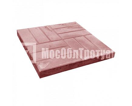Тротуарная плитка «12 кирпичей» (500X500X50) Красный