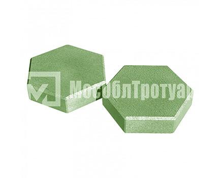 Тротуарная плитка «Шестигранник» Зеленый