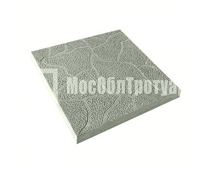 Тротуарная плитка Тучка 300х300х30 МОТ Серый