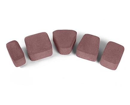 Плитка «Классика» для тротуара красно коричневый