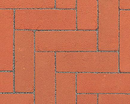 Тротуарный клинкер «Dikformaat» красный