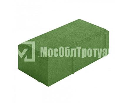 Тротуарная плитка «Вибропрессованный кирпич» Зеленый