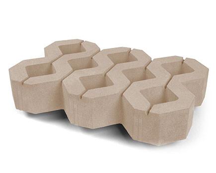 Тротуарная-плитка-Газонный-камень-песочный