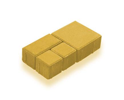 Брусчатка модульная Желтый
