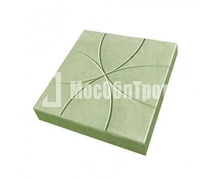 Тротуарная плитка Цветок 350Х350Х50 Зеленый