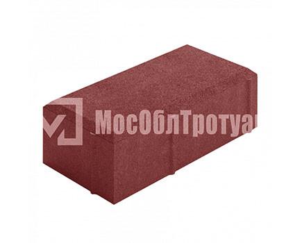 Тротуарная плитка «Вибропрессованный кирпич» Красный