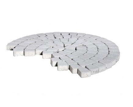 Тротуарная плитка «Классико круговая» Белый