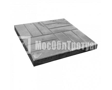 Тротуарная плитка «12 кирпичей» (500X500X50) Черный
