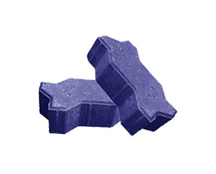 Брусчатка Волна Синий