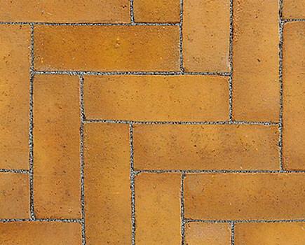 Тротуарный клинкер «Dikformaat» Желтый