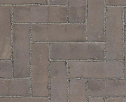 Тротуарный клинкер «Dikformaat» Серый