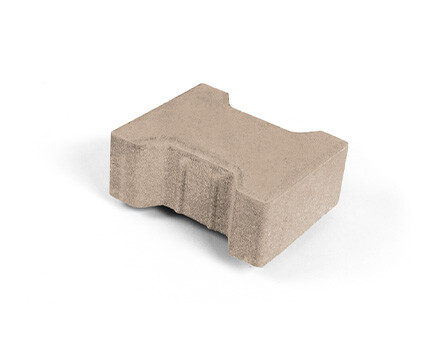 Плитка «Катушка» для тротуара песочный