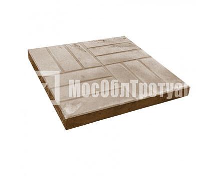 Тротуарная плитка «12 кирпичей» (500X500X50) Коричневый