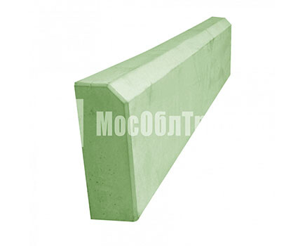 Бордюрный камень «Садовый вибролитой» Зеленый