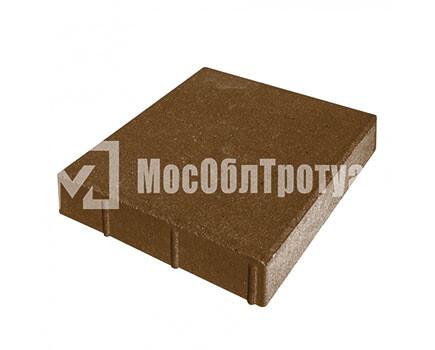 Плитка «Квадрат» для тротуара Коричневый