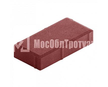 Плитка тротуара «Вибропрессованный кирпич» Красный