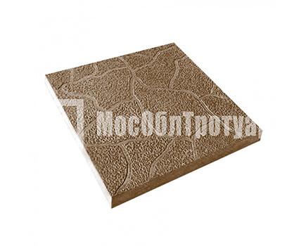 Тротуарная плитка Тучка 300х300х30 МОТ Коричневый