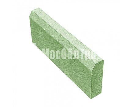 Бордюрный камень «Садовый вибропрессованный» Зеленый