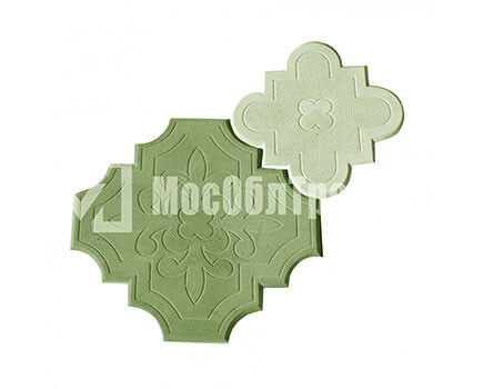 Плитка «Краковский клевер» Гжелка Зеленый